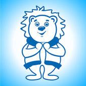 Polar bear Eskimo sign — Stock Vector