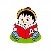 本の小さな子 — ストックベクタ