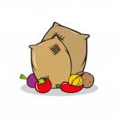 Cartoon Harvest sign — Stock Vector
