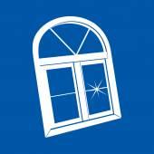White window profile — Vecteur