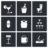 Bar icons set — Stockvektor