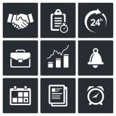 Office business icons set — Stock Vector