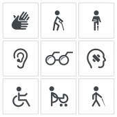 Disability Icon collection — Stock Vector
