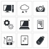 Technology icon collection — Stock Vector