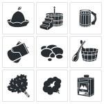 Bath Accessories Icons Set — Stock Vector #66277539