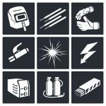 Welding icon set — Stock Vector #66277553