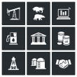 Oil and gas industry  Icons — Stock Vector #66277707