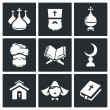 Постер, плакат: Religion faith Icon set
