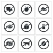 Prohibiting signs  Icons Set — Stock Vector #66278675