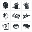 United States   Icons Set — Stock Vector #66278819
