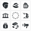 Germany nation Icons set — Vettoriale Stock  #66279059