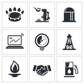 Gas trade vector icon collection — Stock Vector