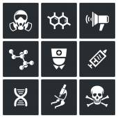 Epidemic protection icons set — Stock Vector