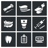Stomatology, medicine   Icons Set — Stockvektor