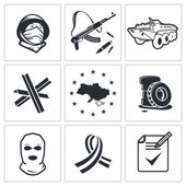 Political Opposition  icons — Stock Vector