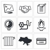 Natural gas industry icons — Stockvektor