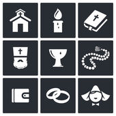 Religion icon collection — Stock Vector