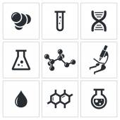 Chemistry icon collection — Stock Vector