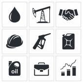石油行业图标 — 图库矢量图片