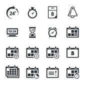 Time, timetable icons set — Stock Vector
