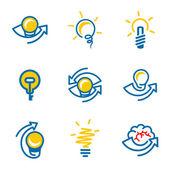 Idea, bulb  icons set — Stock Vector