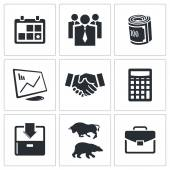 Financial Exchange icon collection — Stock Vector