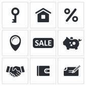 Real Estate Deal icons — Stock Vector