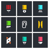 Stationery, office items icons — Stock Vector