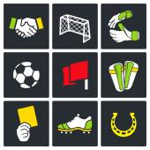 Soccer  color icon collection — Stock Vector