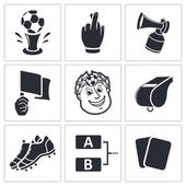 Soccer, football  Icons set — Stock Vector