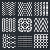 Geometric abstract  textures set — Stock Vector