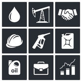 Petroleum industry icons — Stock Vector