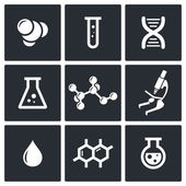 Chemistry icon set  — Stock Vector