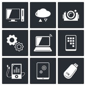 Information,  technology icons — Stock Vector