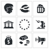 Germany nation Icons set — Stock Vector