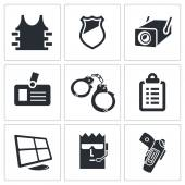 Security, gurading  Icons set — Stock Vector