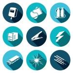Welding, industrial icon set — Stock Vector #69208451