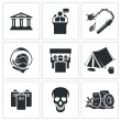Street protests, demonstration    icon set — Stock Vector #69208819