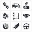 Car Repairs and Maintenance Icon set — Vector de stock  #69208891
