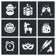 Christmas holiday  Icons Set — Wektor stockowy  #69208897