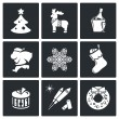 Christmas holiday  Icons Set — Wektor stockowy  #69209343