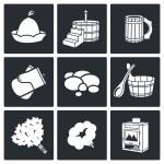 Bath and sauna  Icons Set — Stock Vector #69209707