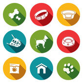 Doggy, dog icons set — Stock Vector