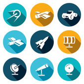 Space, science Icons set — Stock Vector