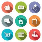 Media, technology   icon set — Vettoriale Stock