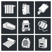 Climate, equipment   Icons Set — Stock Vector