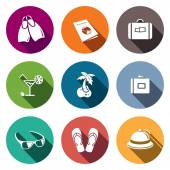Travel, vacation Icons set — Stock Vector