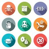 No insects  icon collection — Stock Vector
