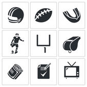 American football  Icons Set — Stock Vector