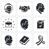 Peace talks   Icons Set — Stock Vector